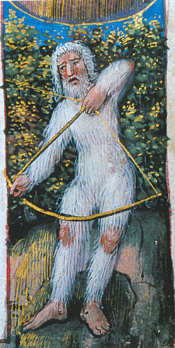 Hommes sauvages, miniature des Heures latines