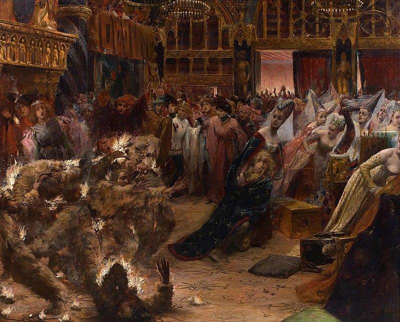 Georges-Antoine Rochegrosse, Le bal des ardents (1889)