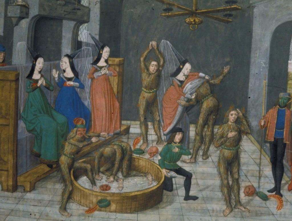 Le bal des Ardents (Les chroniques de Froissard, Bruges, 1483)